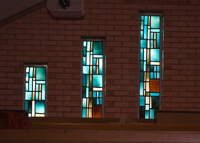 8/365 ~ 3/8/09 First United Methodist Church Sweeny Stain glass windows in balcony.
