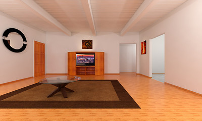 3Ds Max Architectural Rendering - Work in Progress (Our Livingroom)