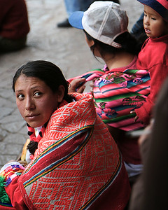Spectators in the Plaza de Armas, Cuzco, Peru