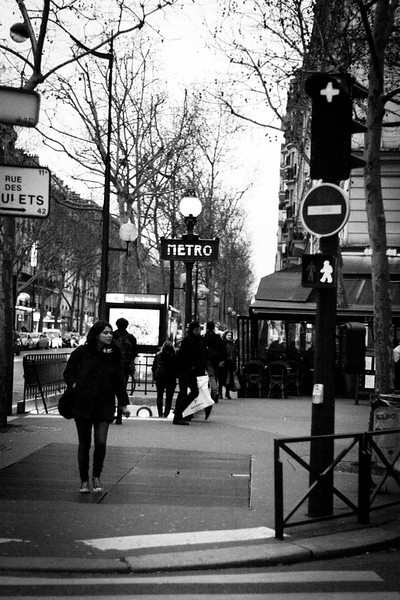 Metro rue des Boulets, Paris, just next to Cafe l'Aquarium.