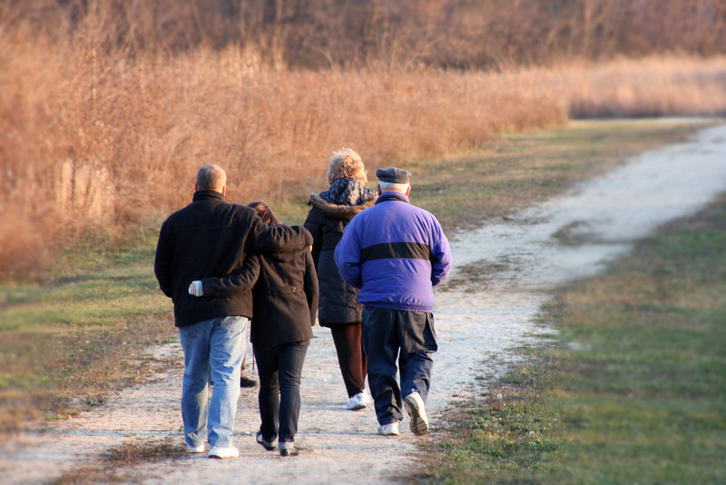 Day 125 ~ Walkin' off the Turkey<br /> <br /> We spent Thanksgiving day this year at my mother-in-law's house with both my children and my husbands children.  We all went for a walk after dinner on the path behind the house.  It was a little bit warmer than most days so nobody minded getting some fresh air.