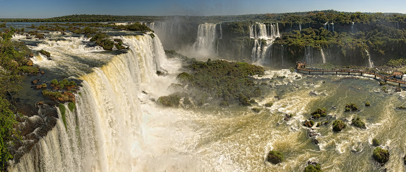 Iguassu Falls Panorama Early PM