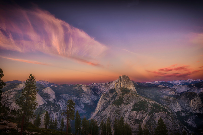 Half Dome After Sunset From Glacier Point