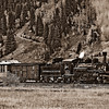 Durango-Silverton Train Backing Up_B&W_LDG2157_6390