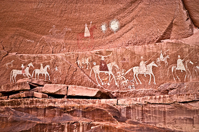 Canyon de Chelly Spanish Conquistador Petroglyph Panel