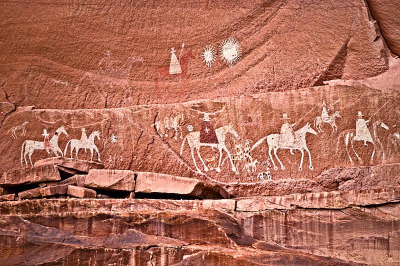 Canyon de Chelly Spanish Conquistador Petroglyph Panel