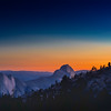 Half Dome At Sunset From Olmsted Wide