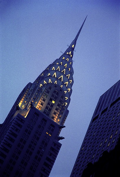 Chrysler Building NYC at nite