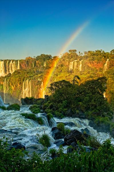 Iguassu Falls Rainbow Dawn