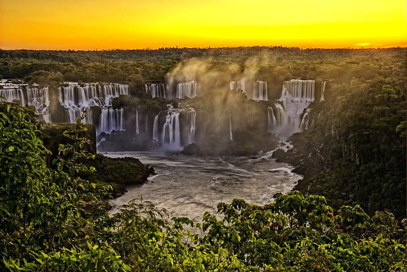 Iguassu Falls -- Last Light