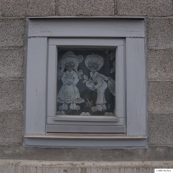 week 22 - Cute kids - this is a picture of one of the local primary school windows.