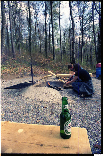 week 23 - a beer and stick bread out in the woods - perfect