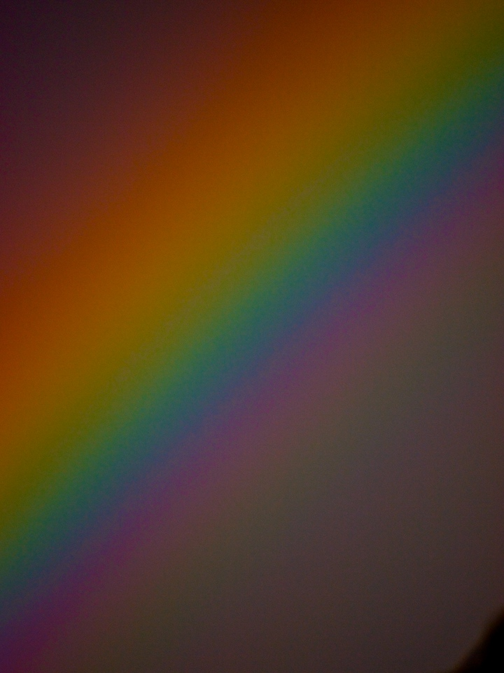 Week 18 - This is a zoomed image of a rainbow, I then increased saturation and definition to bring out the colours