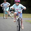 Amy Learning to Ride, near Kai Iwi Lakes