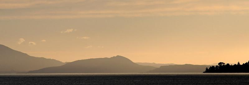 Sunset over Lake Taupo