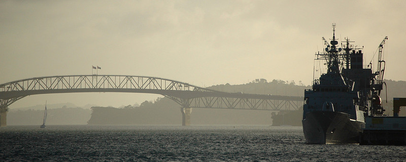 Auckland Harbour Bridge and Devonport Naval Base