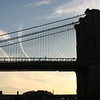 Brooklyn Bridge just before sunset