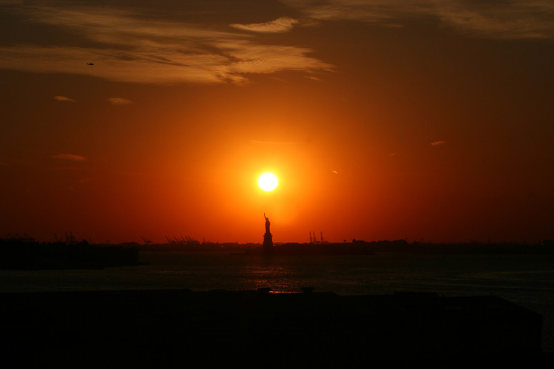 Statue of Liberty Sunset.