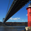 Little Red Light House with GW Bridge above