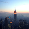 <CENTER>Empire State Building, just before sunset</CENTER>