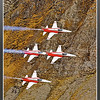 Axalp2012 - F-5 Patrtouille Suisse 4 in formation on same level view