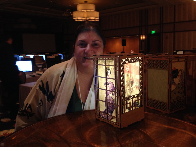 ADIM 14 main project: laser-cut Japanese wood lantern with washi paper inserts (assembly & lighting test)