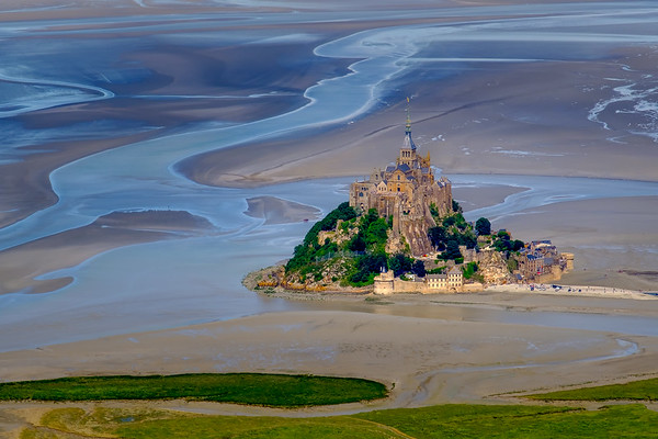 Aerial of Mont Saint-Michel