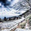 linn cove viaduct winter scenery