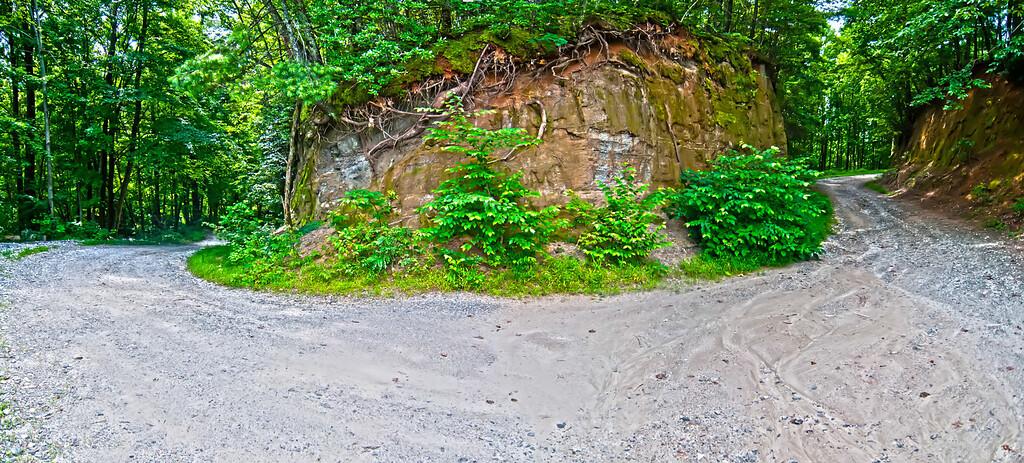 sharp road curve