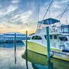 View of Sportfishing boats at Marina
