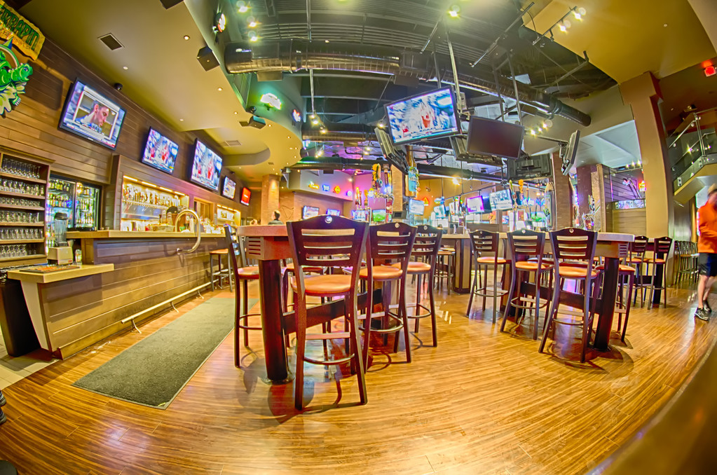 sitting area inside of a tavern bar restaurant