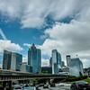 atlanta city skyline and highway traffic