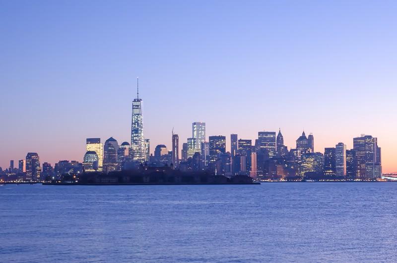 morning view of new york city manhattan skyline