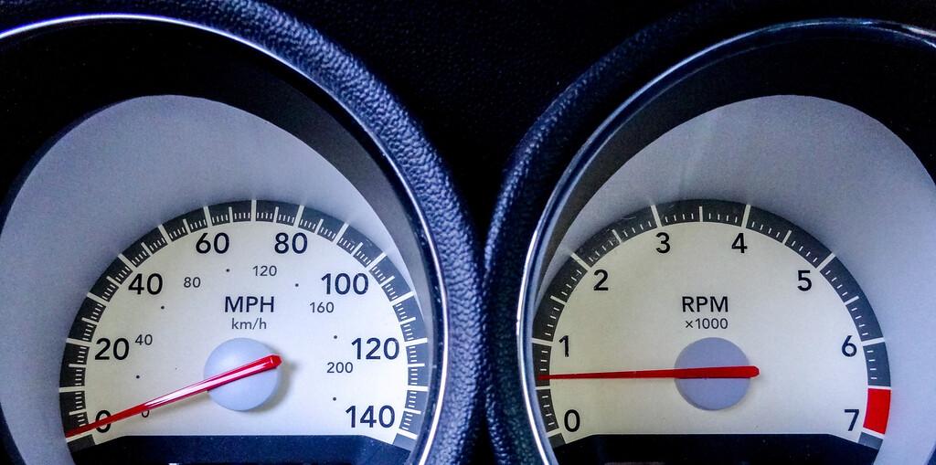 modern car speed meter, racing style