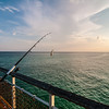 fishing of an ocean pier