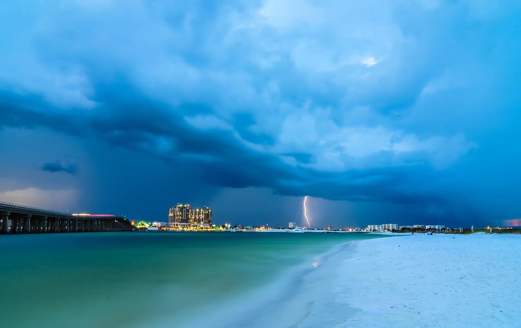 stormy clouds over destin florida