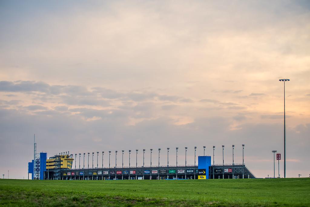 Kansas Speedway in Kansas City KS at sunrise