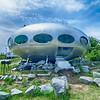 Frisco, NC-August 9:   mass-produced Futuro house. The Futuro is a house designed by Matti Suuronen. August 09, 2014 in Frisco,NC
