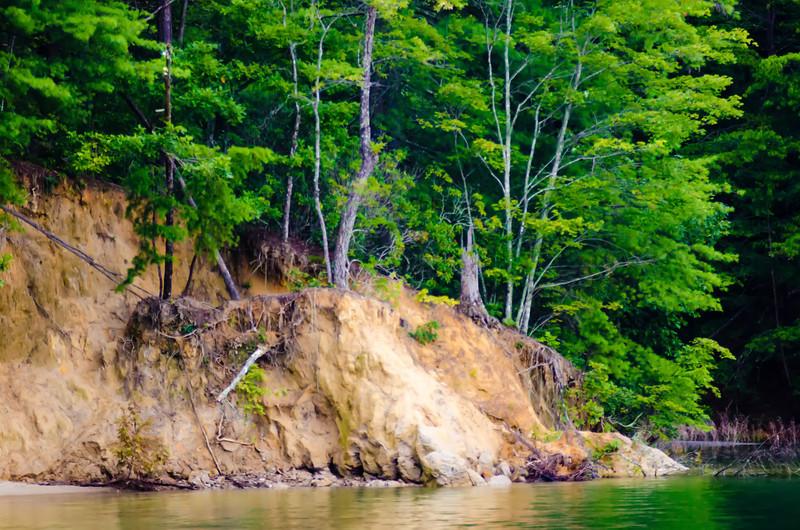 erosion at the lake