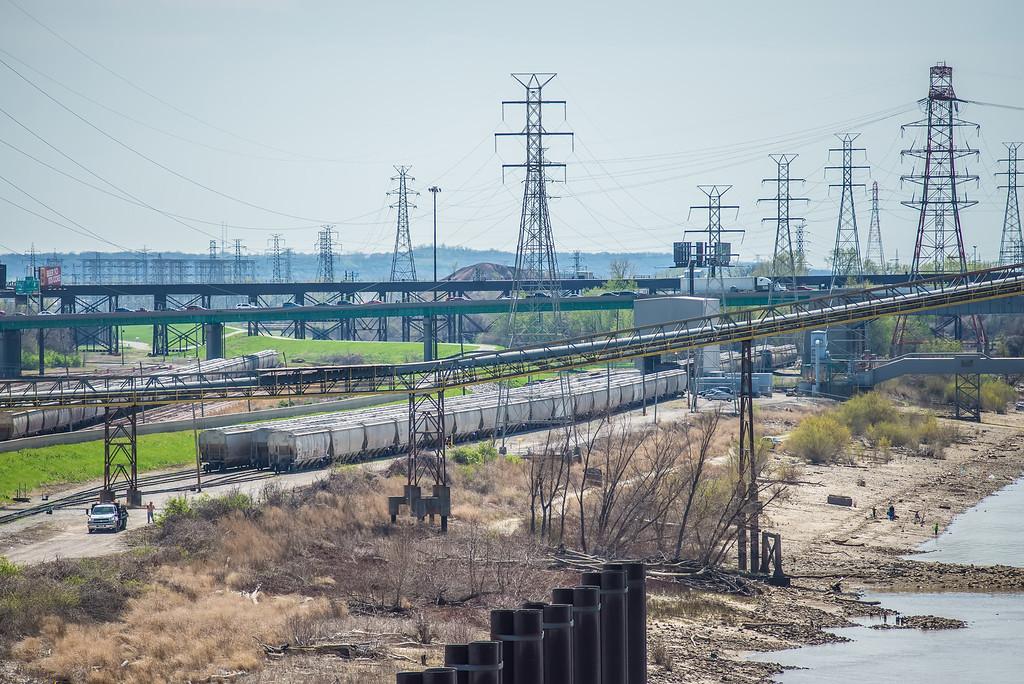 Saint Louis MO  USA freight trains