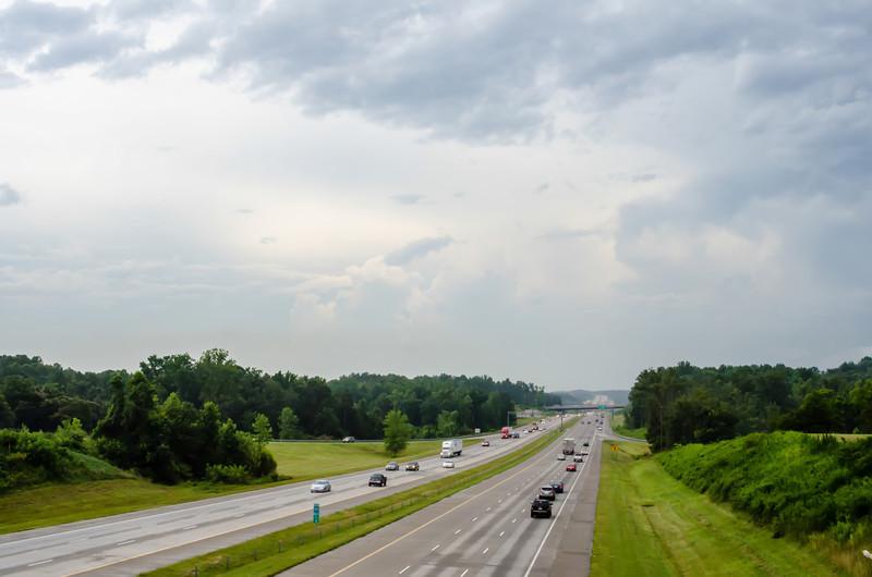 highway traffic near a big city