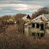 abandoned building in ruins near newport rhode island
