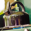teapot on stove at camp