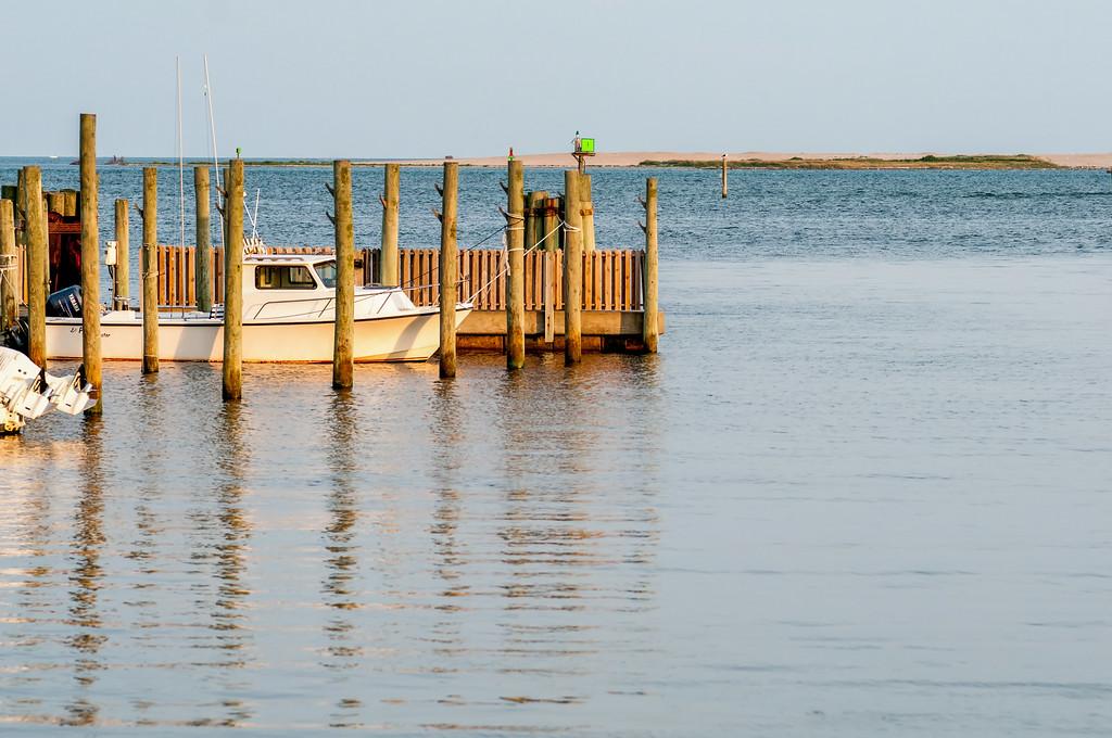 boats in the marina at sunrise