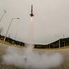model rocket launch