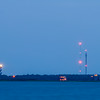 cape hatteras lighthouse seen in distance from pamlico sound