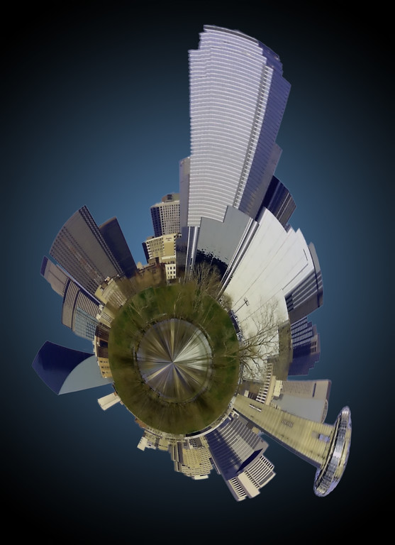 Houston Skyline mini planet Texas