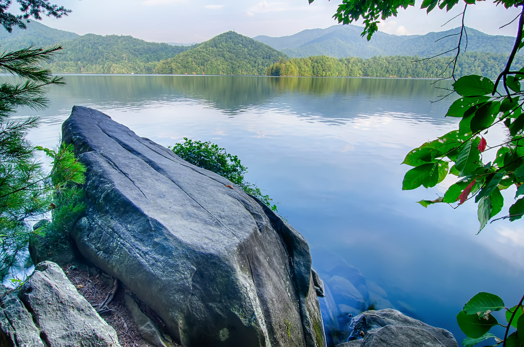 lake santeetlah in great smoky mountains north carolina