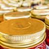 lid tops closeup of mason jars
