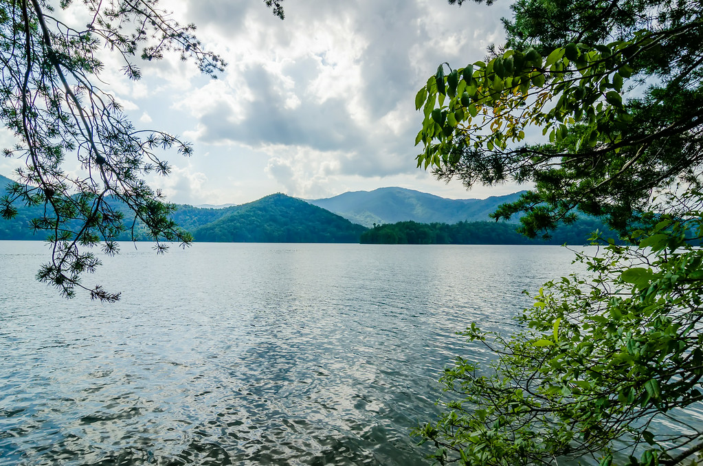 lake santeetlah in great smoky mountains nc
